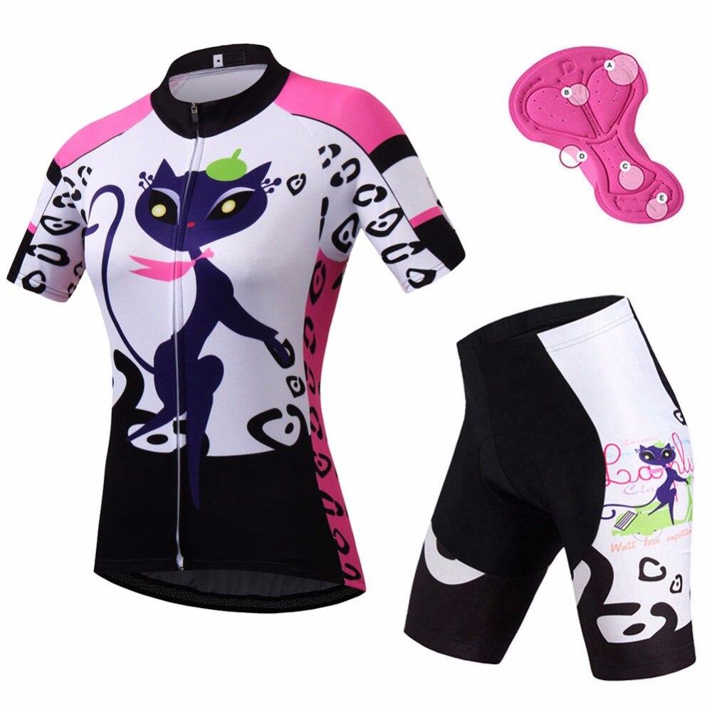Ladies Cycling Clothing Sets Short Sleeve Reflective Women s Cycling Jersey Spandex Shorts Kit Mtb Bike