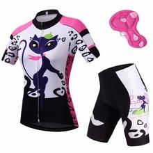 Ladies Cycling Clothing Sets Short Sleeve Reflective Womens Jersey & Spandex Shorts Kit Mtb Bike Bicycle S-5XL