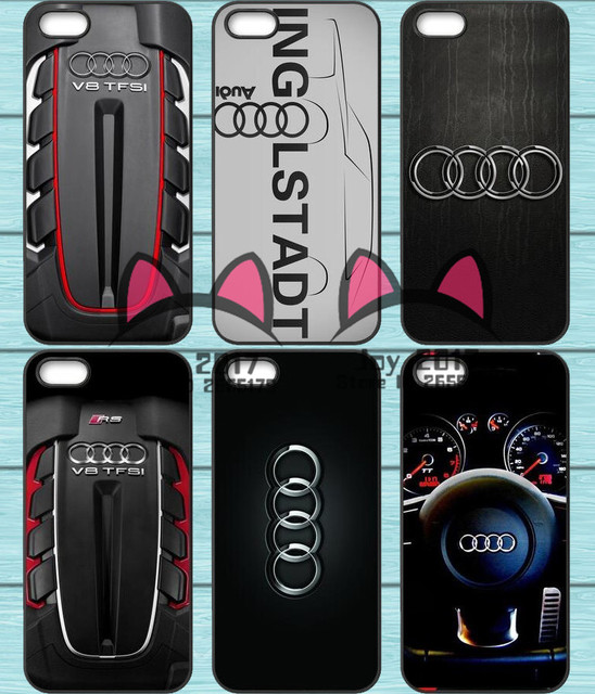 Hot Audi Auto Logo Tpu Telefoon Case Voor Iphone 4 S 5 S Se 5c 6