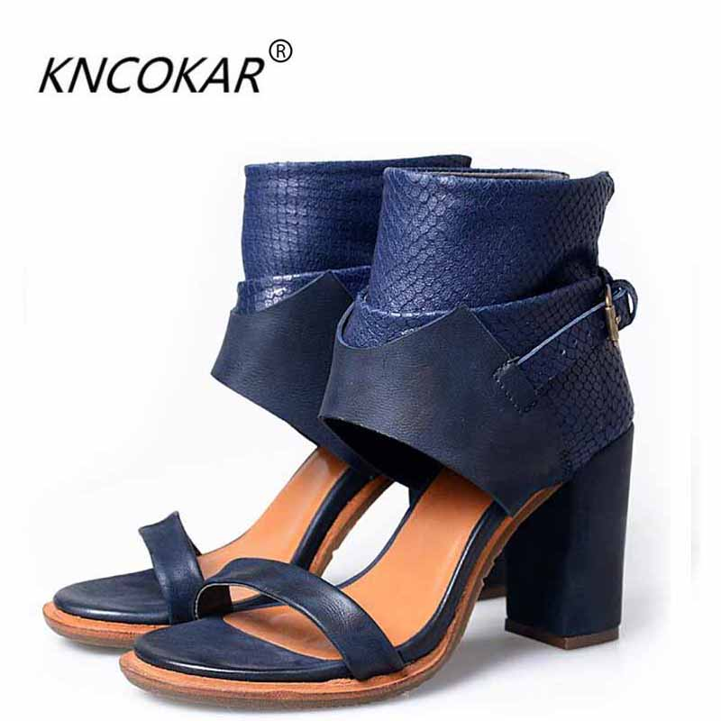 In summer, the new style of European and American style is a combination of bold and fish-mouth sandals 2018 summer ladies sandals leisure casual and european style slippers in europe and america