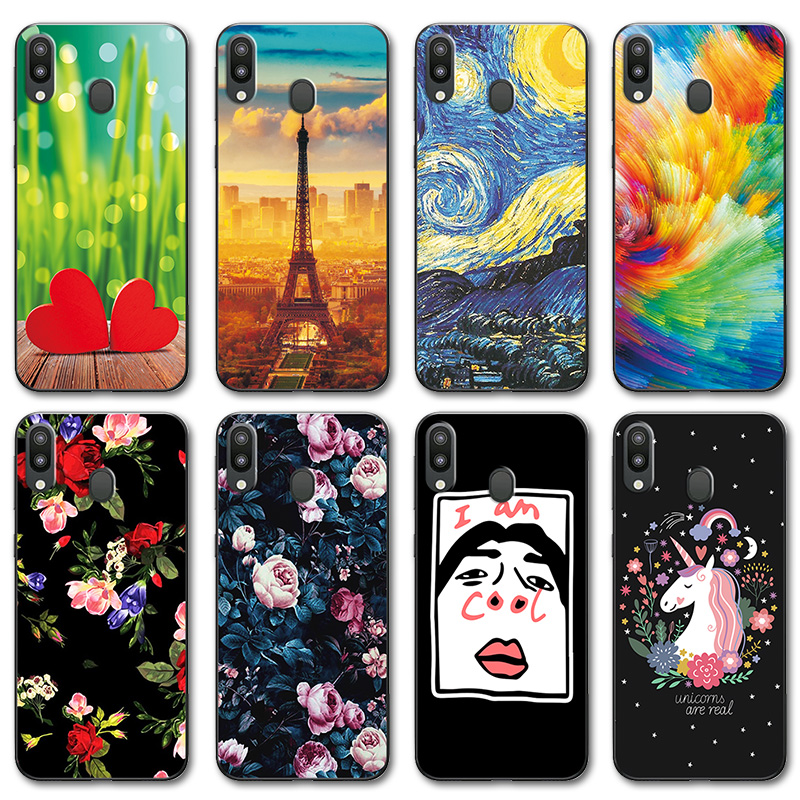 Novelty Painted Case Cover For Samsung Galaxy M20 6.3 Cases Galaxy M20 M205f Phone Case Coque For Samsung M10 Sm-m105f 6.22 Fitted Cases Phone Bags & Cases