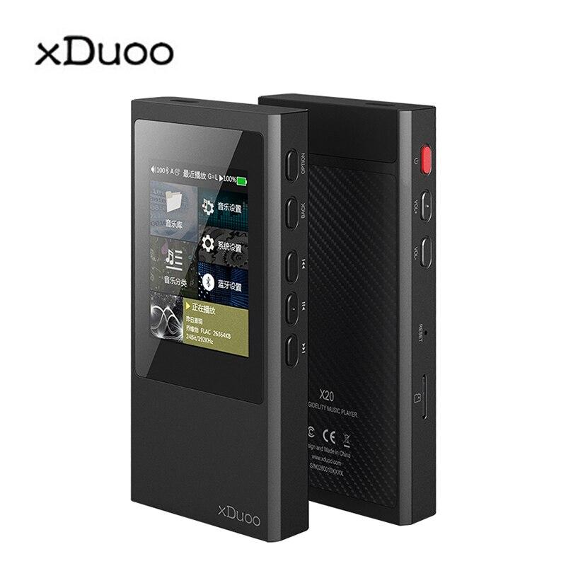 XDuoo X20 haute fidélité sans perte musique DSD Aptx Bluetooth 4.1 haute fidélité HIFI lecteur Mp3