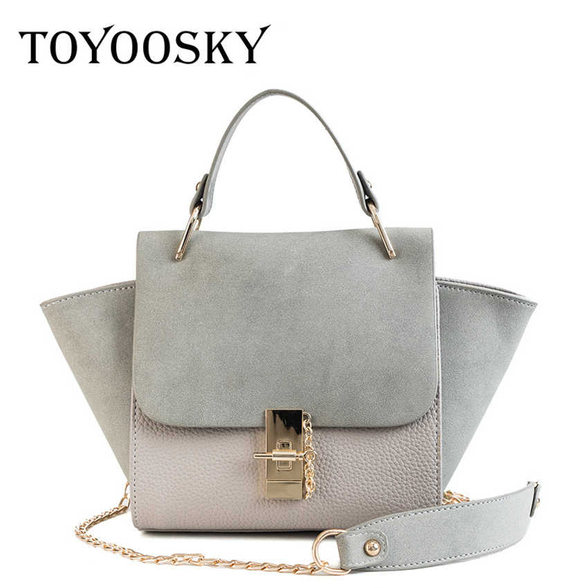 TOYOOSKY New Fashion Women Crossbody Bag Female Nubuck Leather Casual Shoulder  Bag Brand Designer Handbag Ladies 4ca6a0de2ea1b