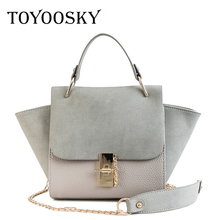 цены TOYOOSKY New Fashion Women Crossbody Bag Female Nubuck Leather Casual Shoulder Bag Brand Designer Handbag Ladies Trapeze Bag