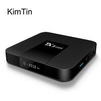 Kimtin Декодер каналов кабельного телевидения Android 7.1 Quad Core Amlogic s905w ОЗУ 2 ГБ 16 ГБ 4 К H.265 HDMI 2.0 потоковыми мультимедиа плеер Поддержка Wi-Fi DLNA