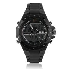 SKMEI Steel Precise Time Men's Sports Cool Fashion Stylish LED Military Multifunctional Wristwatch Double Display Watch Relogio все цены