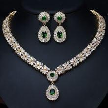 Билицветное высококачественное зеленое ожерелье и серьги свадебная