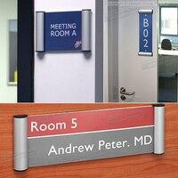Al сплав знак для интерьера помещения горизонтальный настенный знак держатель двери дисплей информационный плакат знак на дверь доска объя...