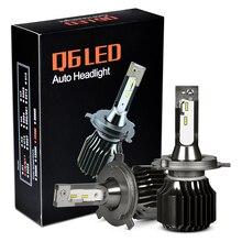 RACBOX безвентиляторный автомобиль светодиодный лампы H4 Hi Lo H1 H7 H8 H9 H11 9005 9006 HB3 HB4 белый 6000 К для Kia Opel peugeot светодиодный авто лампы