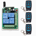 DC 12V 24V 4 CH 4CH RF Wireless Remote Control Switch System,3 X Waterproof Transmitter + 1 Receiver,315/433MHZ