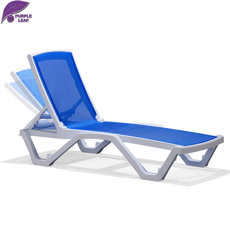Purple leaf sun lounger beach folding chair portable for Transat de plage pliant
