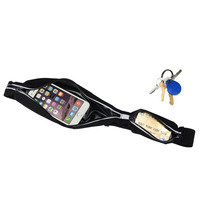 Double Waist Packs Running Fanny Pack Hide Cellphone Holder Waterproof Pouch Reflective Stripe Adjustable Belt 29