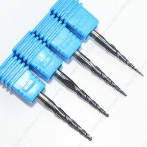 Image 4 - 3.175mm shank 1PCS, CNC węglika wolframu tialn stożkowe ball nose frez trzpieniowy, router do obróbki drewna bit, kulisty stożek frez