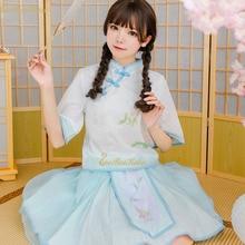 af5e7ed2f Women Chiffon Hanfu Print Flower Buttonhole Loop Han Chinese Clothes  Halloween