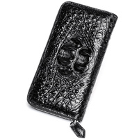 2018 Fashion Real Crocodile Pattern Coin Purses Card Holder Genuine Leather Men Long Wallets Men's Alligator Long Clutch Bags