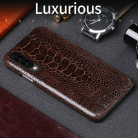 Genuine Leather Natural ostrich feet phone case for Samsung A70 50 40 30 luxurious Business protective case for Samsung S10 plus