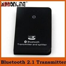 Haute Qualité 3.5mm Bluetooth Transmetteur Musique Audio Splitter Adaptateur Avec APTX Connecter deux casque en même temps pour PC/TV