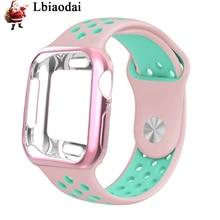 Lbiaodai Silicone Sport strap For Apple Watch Case 44mm/42mm/38mm/40mm correa iwatch series 4/3/2/1 wrist band bracelet belt все цены