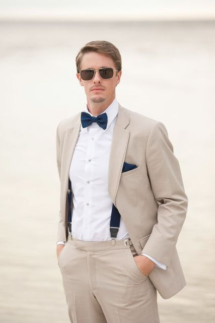 2017 Latest Coat Pant Designs Champagne Wedding Suit for Men Custom Causal  Beach Blazer Groom Slim Fit 2 Pieces Vestidos Terno F b22f1d54a0c