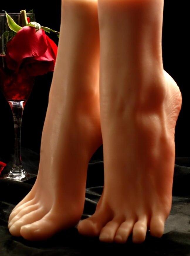 1 paire réaliste femme pied chaussette Silicone pieds Mannequin pied modèle outils pour chaussures et chaussettes affichage