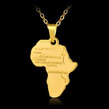 Горячая Мода Африка Карта Маленькая подвеска-кулон для мужчин/женщин золото/серебро Цвет африканские карты ювелирный подарок