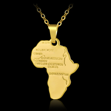 Hot Trendy Africa Map small pendant necklace for Men/Women Gold/Silver color African Maps Jewelry Gift