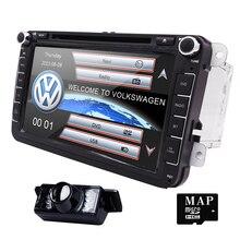 2din 8 дюймов автомобиля dvd GPS плеер для Volkswagen VW Гольф Jetta Touran Tiguan Passat Skoda с Радио, BT, МЖК, GPS, бесплатную карту и камеры