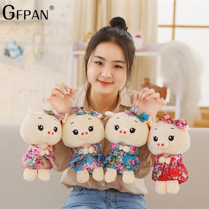 GFPAN 1pc 20cm Super Quality New Japanese Kimono Pig Doll Stuffed&Plush Kawaii Pendant Cute Baby Doll Kids Party Gift