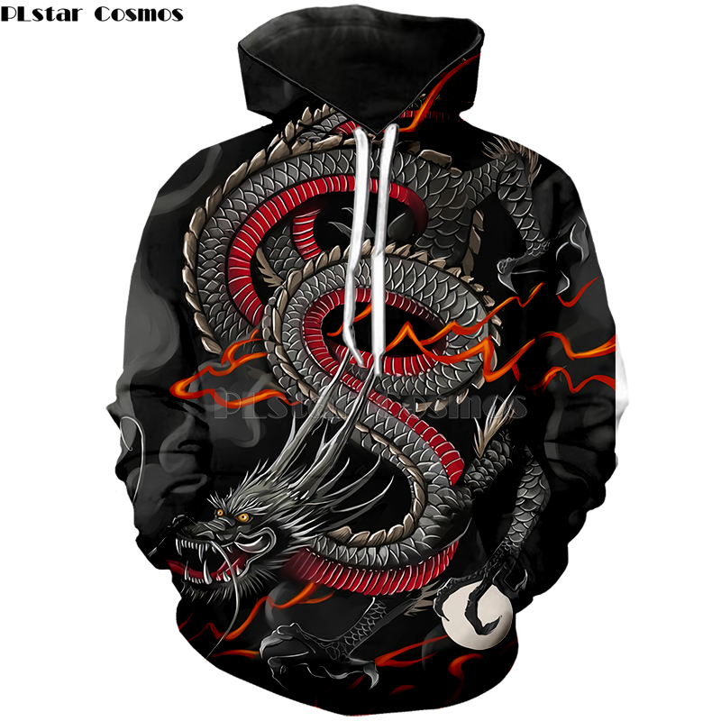 PLstar Cosmos Japanese Luxury Dragon Printed 3D Hoodies Men/Women Harajuku Sweatshirts Cool Hip Hop  Pullovers Drop Shipping-1