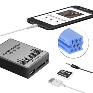 Image 4 - USB SD AUX سيارة MP3 راديو الموسيقى الرقمية CD مبدل التكيف لرينو 8pin كليو Avantime ماستر مودوس دايتون واجهة