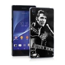 Elvis Presley Guitar Pretty Funny UV Black Bag Case For Sony Z2