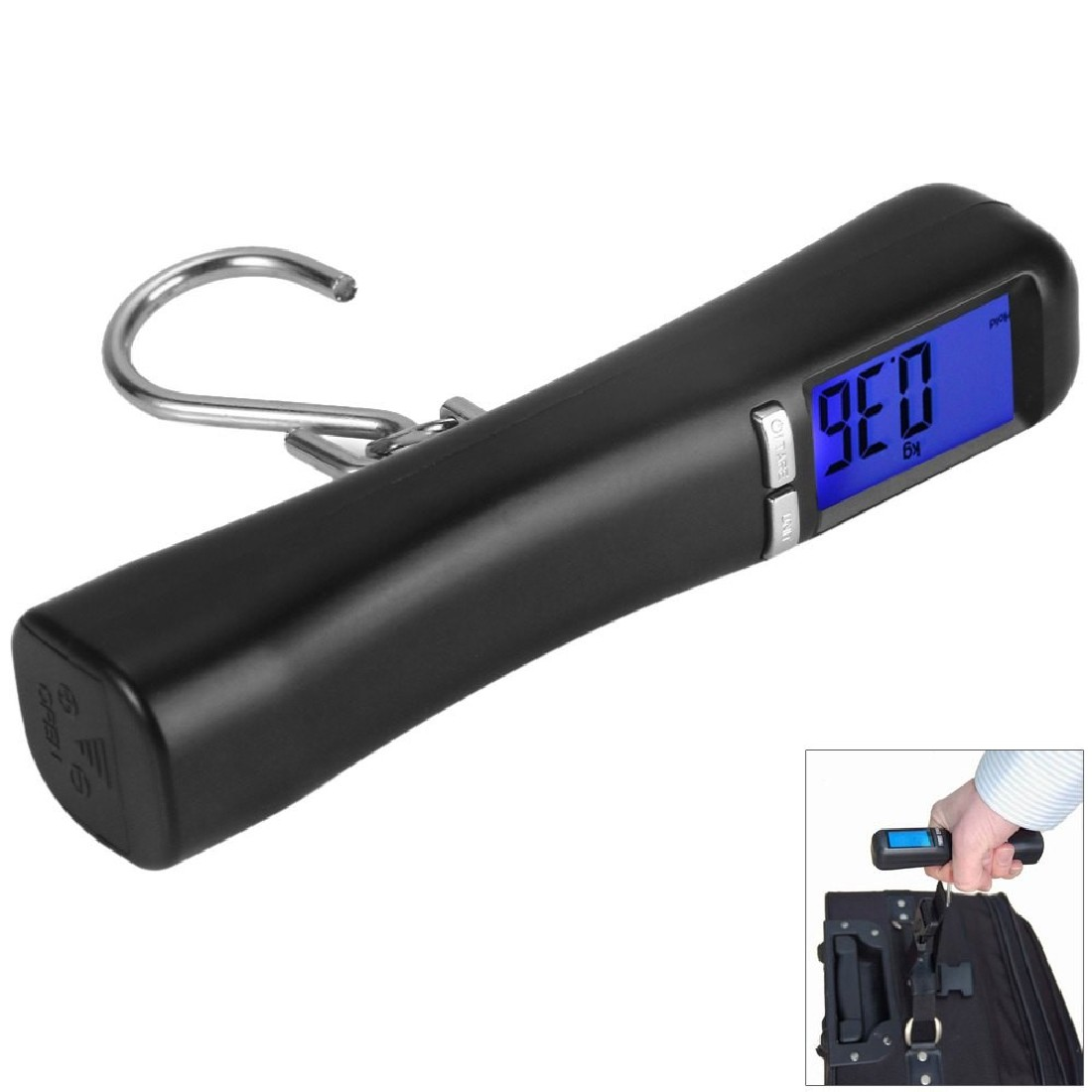 40 kg/10g Balance Suspendue LCD Rétro-Éclairé Voyage Portable Bagages Bagages Valise Sac Poids Numérique Pesant Échelle