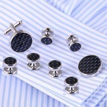 Vagula New Silver-Color Cufflinks Luxury Cuff links Lawyer 8pcs set cuffs French Shirt Twist Cuff link 529