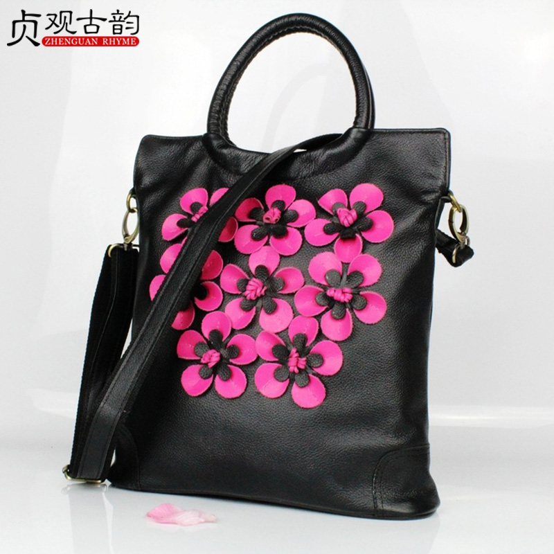 NoEnName 2018 Summer New Large Capacity Women Handbag National Style Flower Embroidery Miao Nationality Yunnan Technician noenname