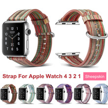 Straps for Apple Watch Band 38mm 40mm Genuine Leather Strap Bracelet Women for Apple Watch 44mm 40mm Band Series 4 3 2 Bands