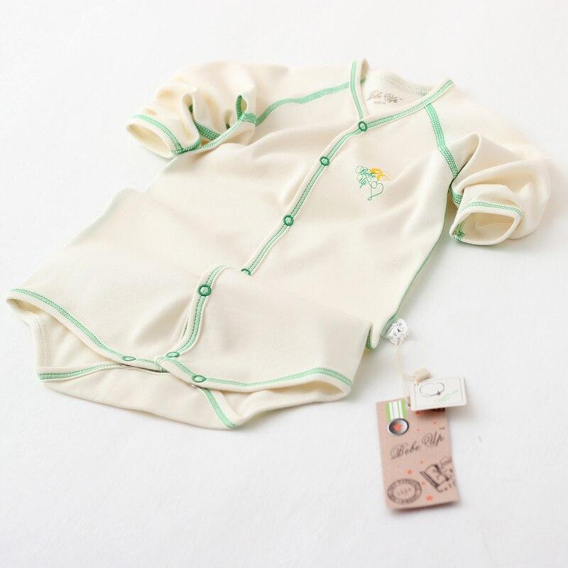 Baby Girl Boy Kläder Spädbarn Bodysuits Lång Ärmar Organisk - Babykläder - Foto 3