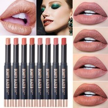 Beauty Glazed Lips Color Lipstick non-stick cup Matte Lip Stick Waterproof Makeup Cosmetics Red Batom Pencil Velvet  maquillage