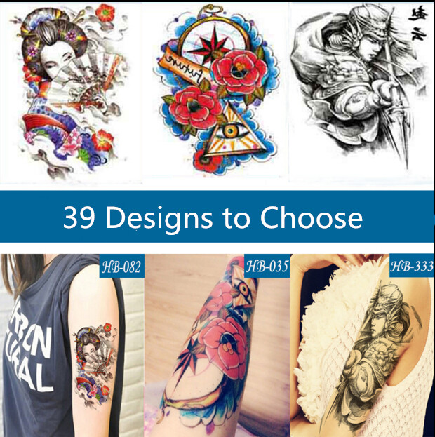 1pcs 3D Waterproof Temporary Tattoo Body Art for Men Women Arm Leg Large Tattoo Sticker 39 Designs To Choose Fake Tattoo ...