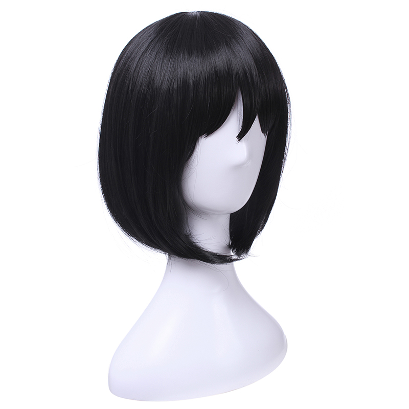 Image 5 - L email wig Mikasa Ackerman Cosplay Wigs Attack on Titan Cosplay Black Straight Wig Heat Resistant Synthetic Hair Perucas-in Synthetic None-Lace  Wigs from Hair Extensions & Wigs