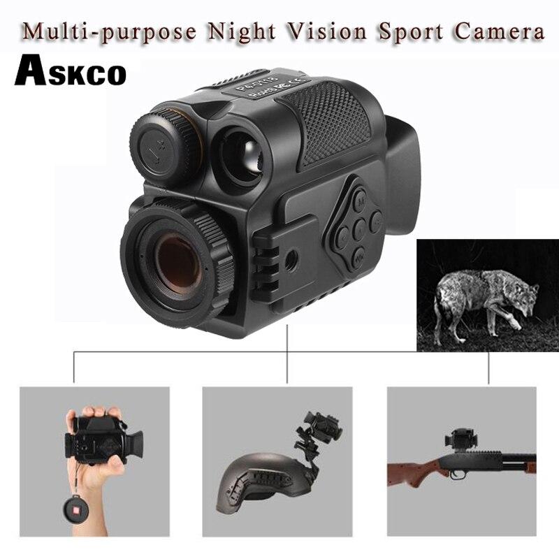 Askco Mini Multifunction IR Digital Infrared Monocular Day Night Vision Telescope Night Vision Scope For Camera