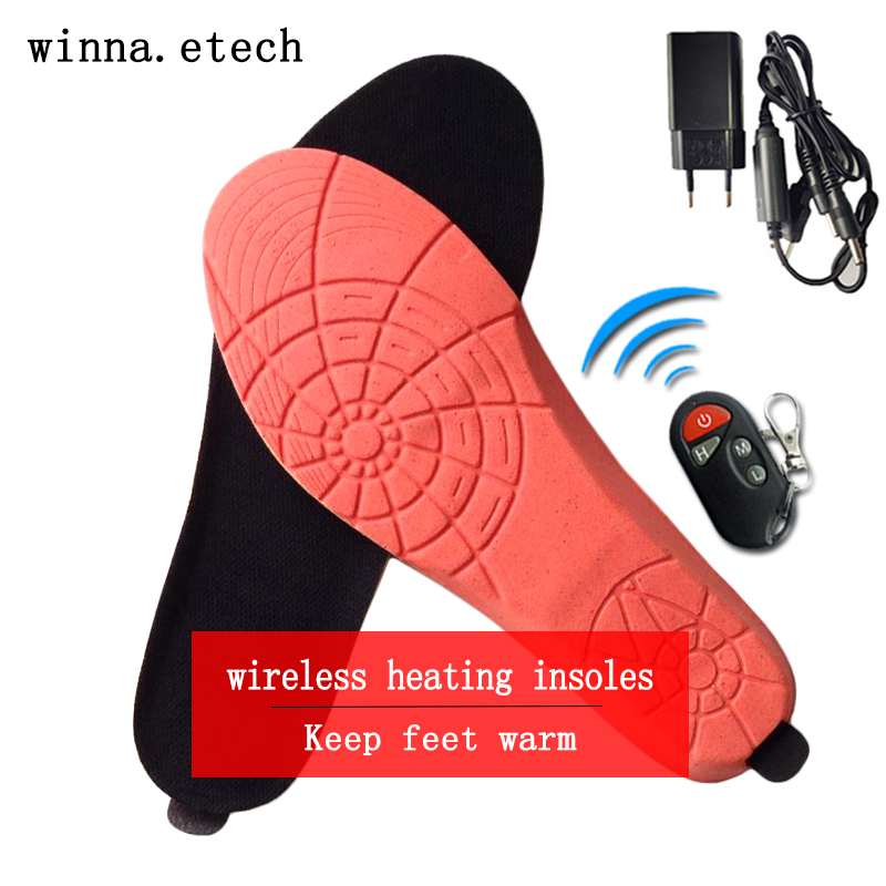 NEW Electronic remote Heated Insoles for women men shoes insoles Thermal Thickened Warm Keeping Shoes insoles Shoes accessories