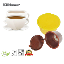 2pc use 50 times 10 Colors Refillable Dolce Gusto coffee Capsule nescafe dolce gusto reusable capsule capsules