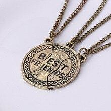 Разбитое Сердце 3 Части Кулон Лучший Друг Навсегда Ожерелье для Женщин Ювелирные Изделия Лучший Подарок для Друзей