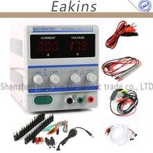 DPS High precision Digital Adjustable DC Power Supply 0-30V 0-5V+39pcs/set DC JACK For Lab Notebook Computer Repair EU Plug 220V