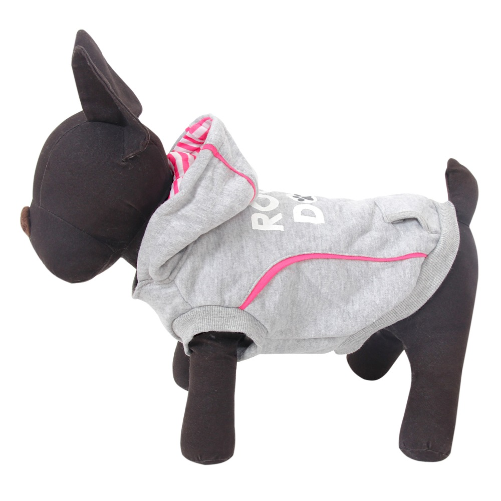 Flash Sales Pet Hoodies Grey Color Rock style Highly Recommend Clothes for Dog Puppy Clothes 3 Sizes Freeshipping Pet Supplies