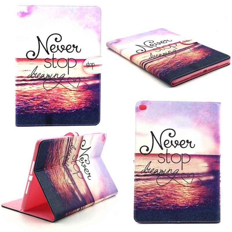 For Apple iPad Air 2 case Book style PU Leather Protective Skin for iPad 6 Cover With Card Holder Tablet Accessories bidenuo g380 stylish in ear earphones red black silver 3 5mm plug 126cm