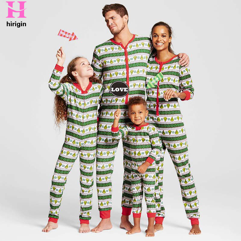 8f5ea2ea414 Detail Feedback Questions about HIRIGIN 2017 Winter Fashion Family Matching  Christmas Pajamas Set Family Look Outfits Parents Kids PJs Sleepwear  Onesies on ...