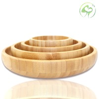 Bamboo Storage Tray Dining plate Pizza Tableware Snacks Desserts Salad Fruit Plate Household Kitchen Utensils Dishes