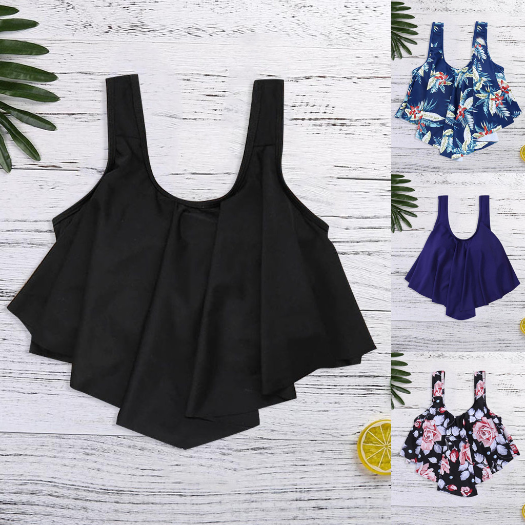 2019 Sexy Women Bathing Suits Top Ruffled With High Waisted Bottom New Lady Split Swimsuit Wire Free Regular Bikini Set XYT04FY