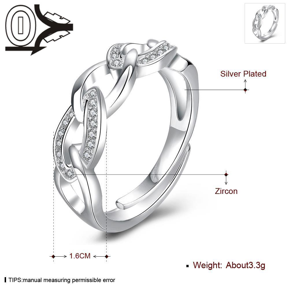 Free Shipping Wholesale Silver-plated Ring,Silver Fashion Jewelry,Women&Men Gift Inlaid Stone Oval Intersect Silver Finger Rings